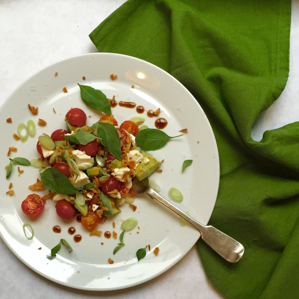 thai basil tricolore salad