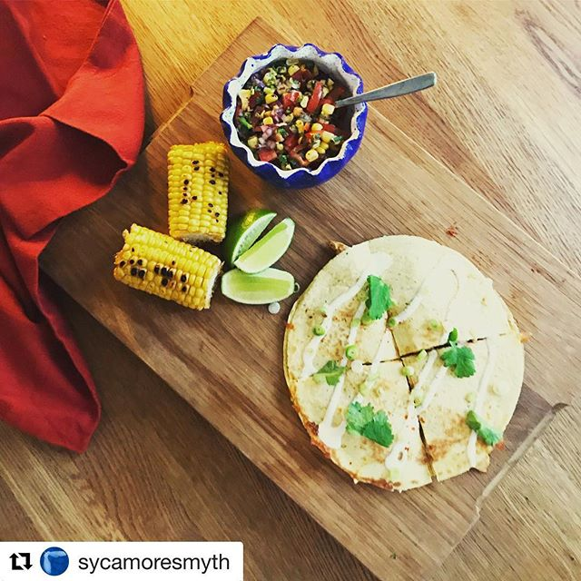 "#Repost @sycamoresmyth with @get_repost ・・・ Chipotle chicken and roast red pepper quesadillas made with Queso Oaxaca from @gringadairy Talking to her at the @ldncheeseproject about her different cheeses and how they behave when they melt was a bit of a revelation. Oaxaca is kind of like a Mexican mozzarella, comes as a ""knot"" (see the second picture? and holds its shape really well when cooked. Super delicious! Will definitely be looking to source more from Gringa Dairy to use for Mexican feasts throughout the summer. #cheese #oaxaca #quesadilla #mexicanfood #summerfood #gringadairy #sycamoresmyth"