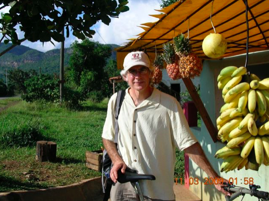 Jim Merkel travels by bicycle in Cuba in 2009.