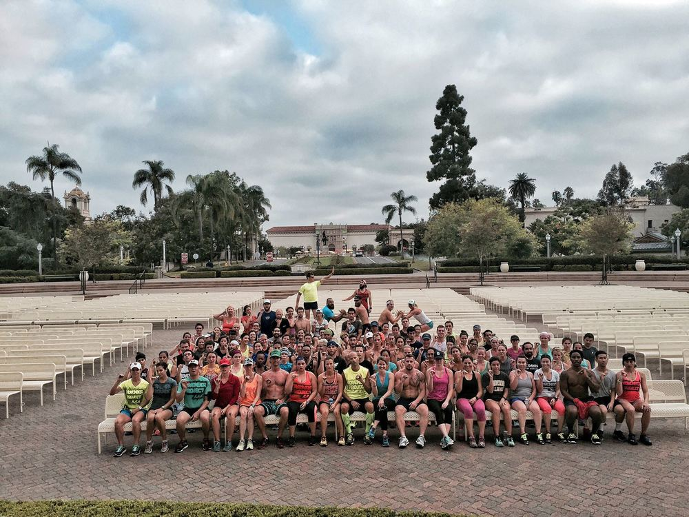 Going out of my comfort zone and meeting new people at a running group! Spot me in the front!