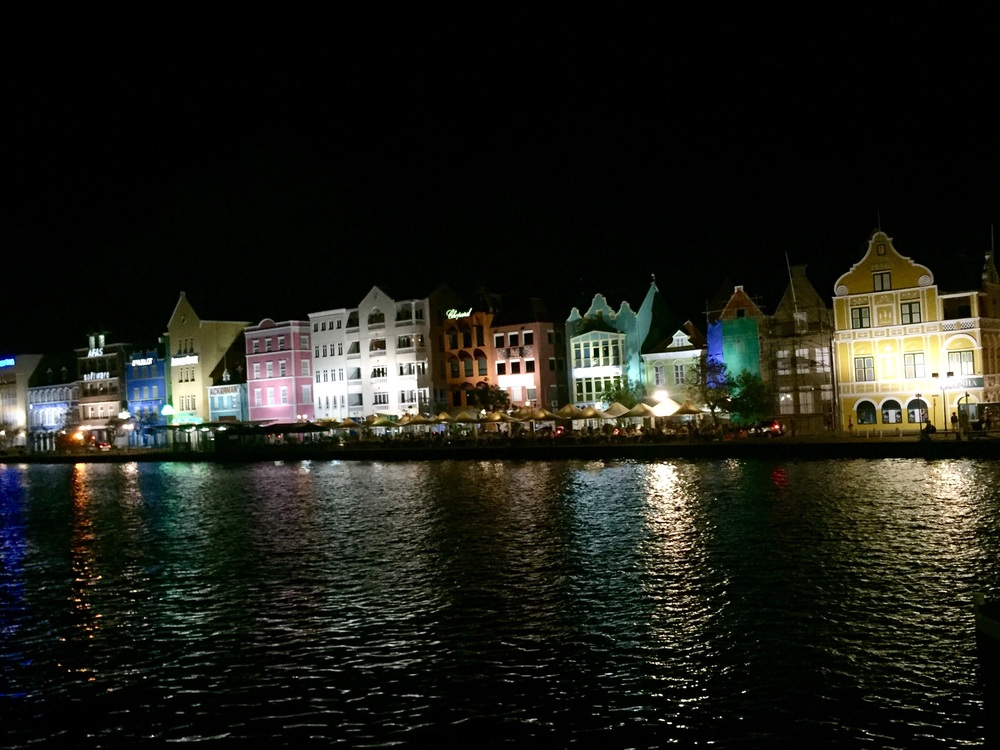 Willemstad, Curaçao at night