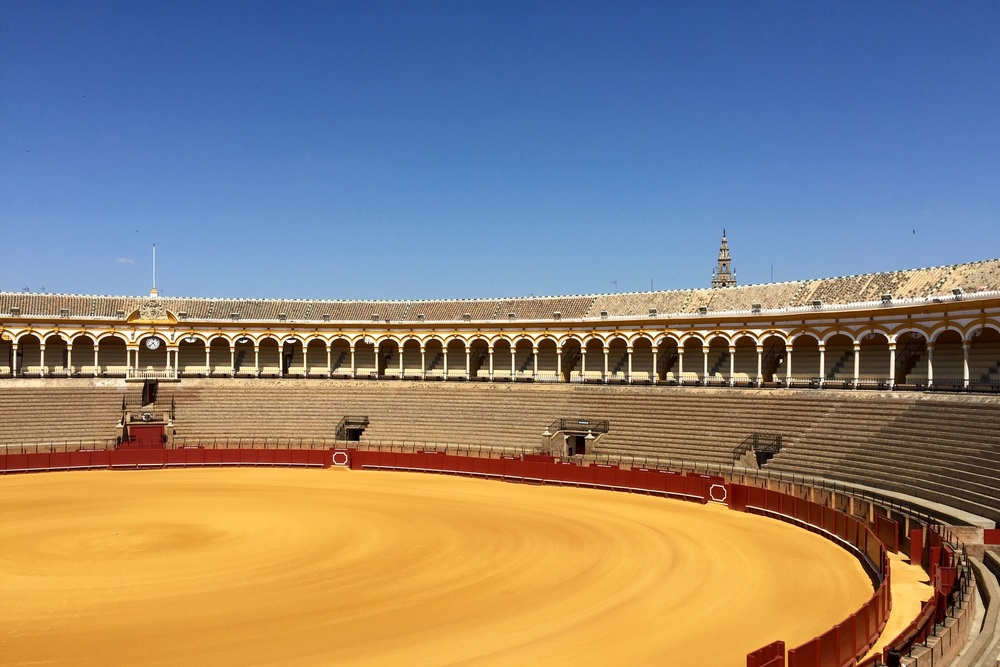 Bull ring in Sevilla
