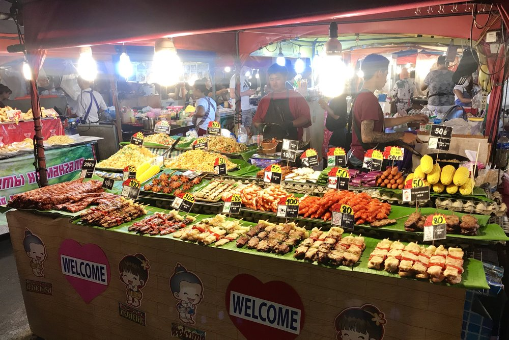 Street food market in Patong
