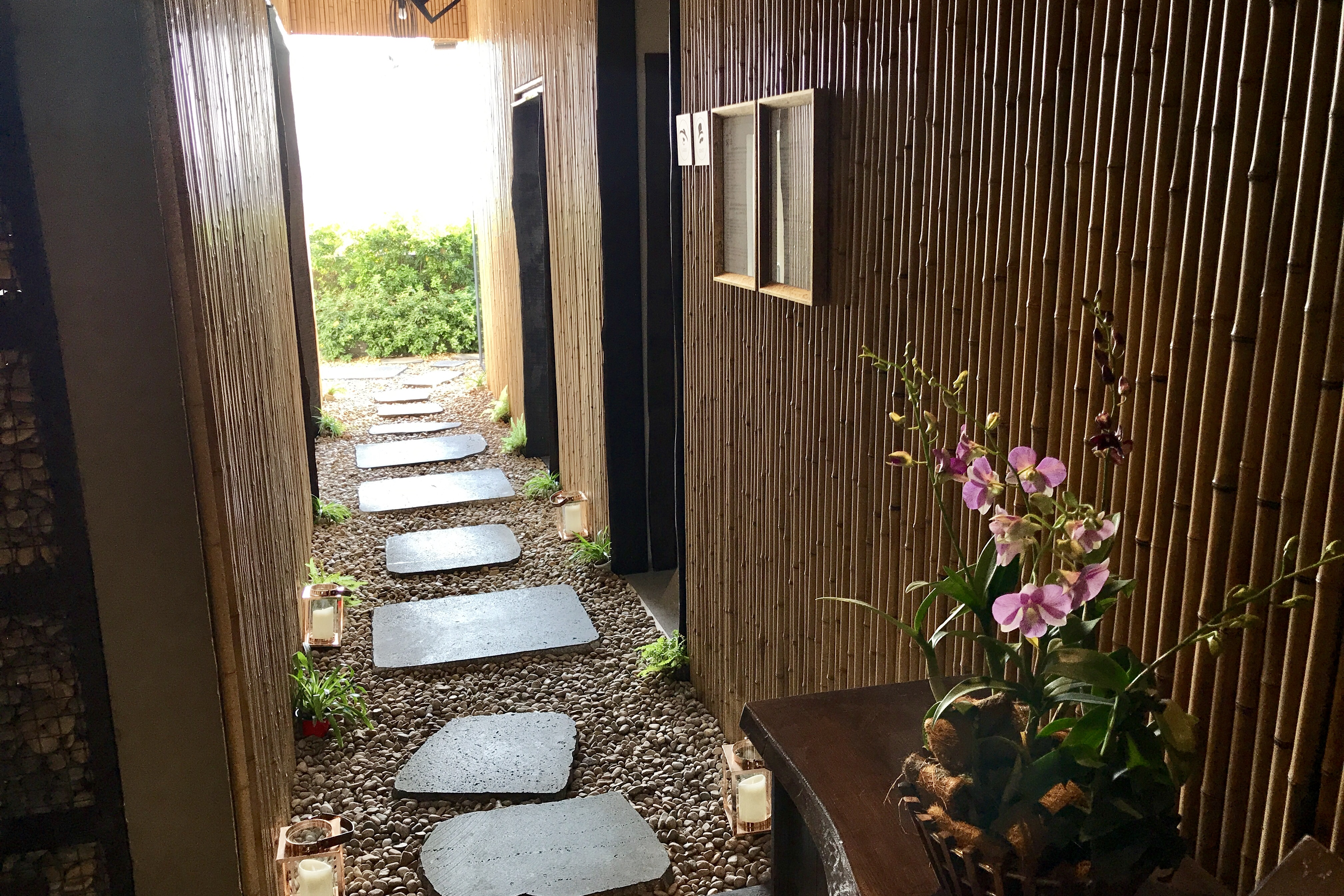 Entrance to Rooftop Spa