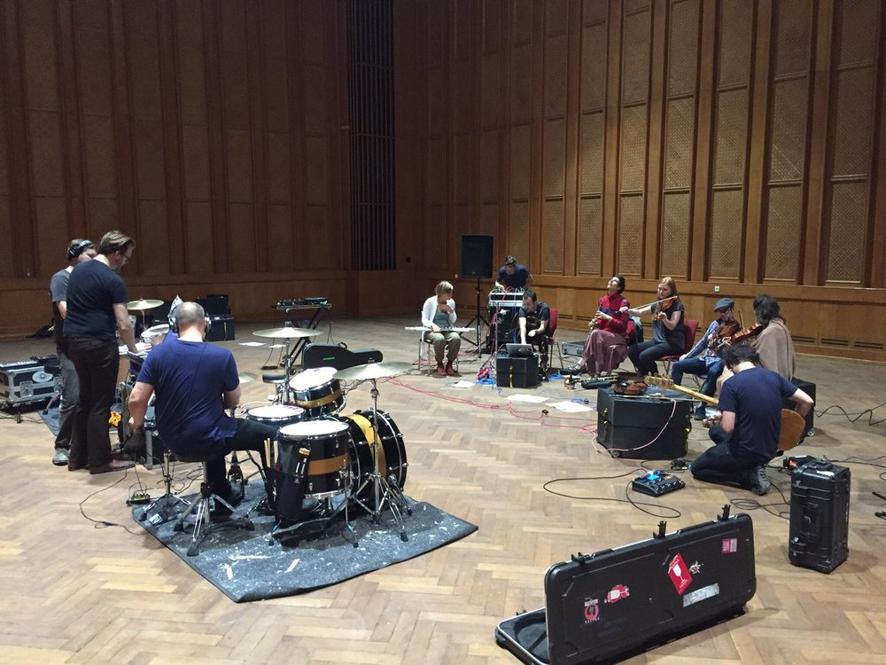 Poliça and s t a r g a z e rehearsing at Funkhaus studios in Berlin