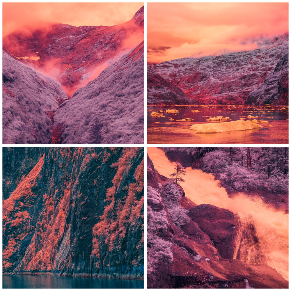 "Selections from ""InfraMunk vs Tracy Arm Fjord"" by GMUNK"