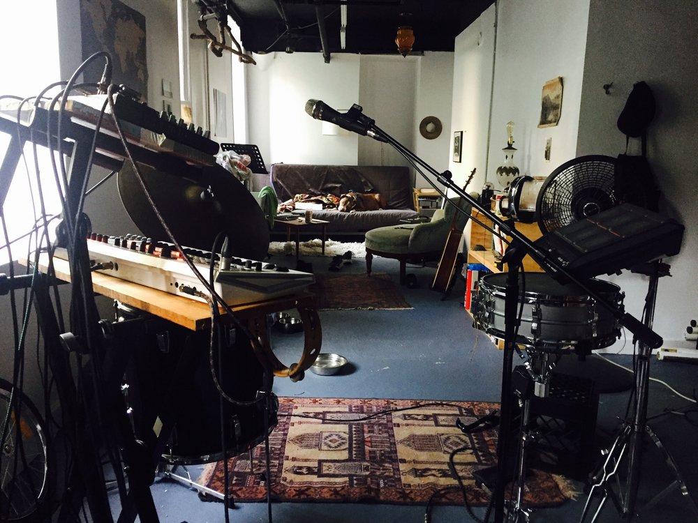 Wells' studio space in NYC.