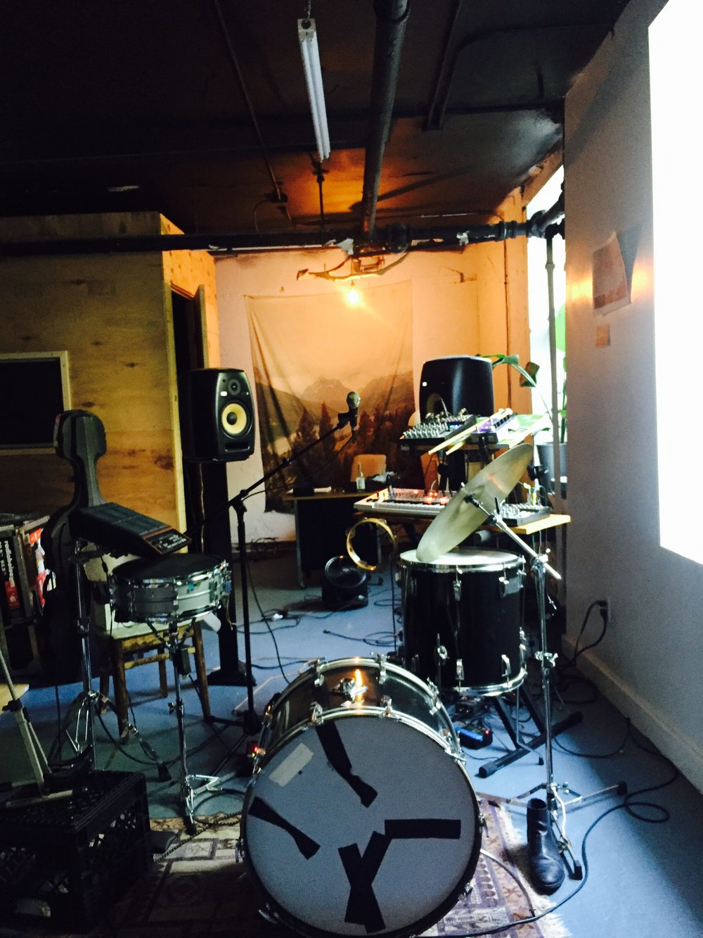 Wells' studio space in NYC.