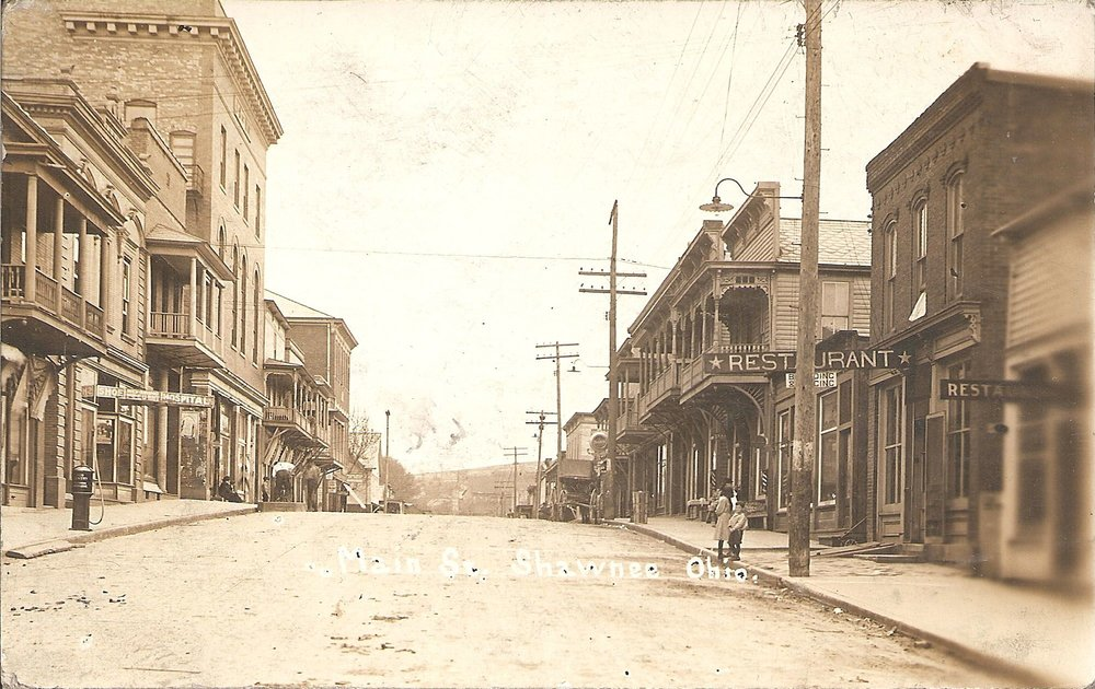 West Main Street circa 1909. Photo courtesy of Little Cities of Black Diamonds Archive.