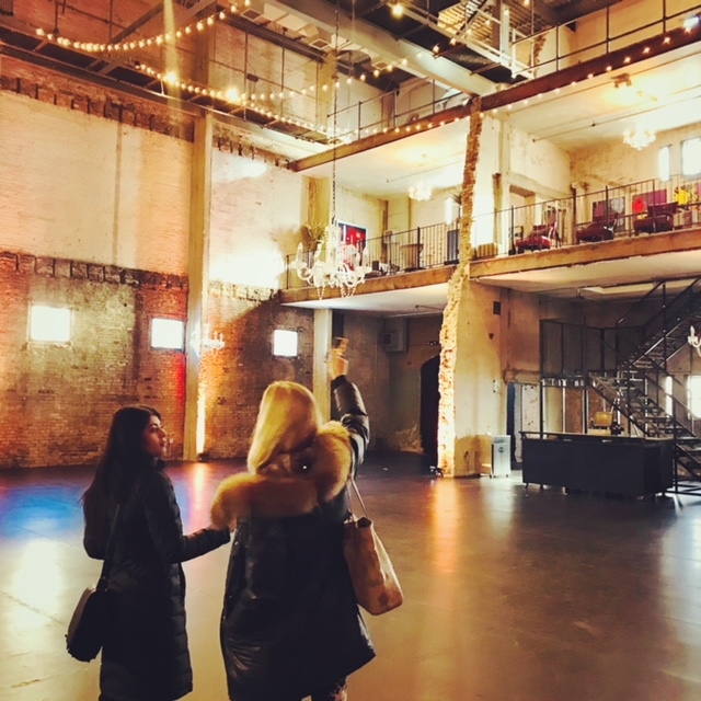 Ashwini and LM Curator Kate Nordstrum explore possible performance spaces.