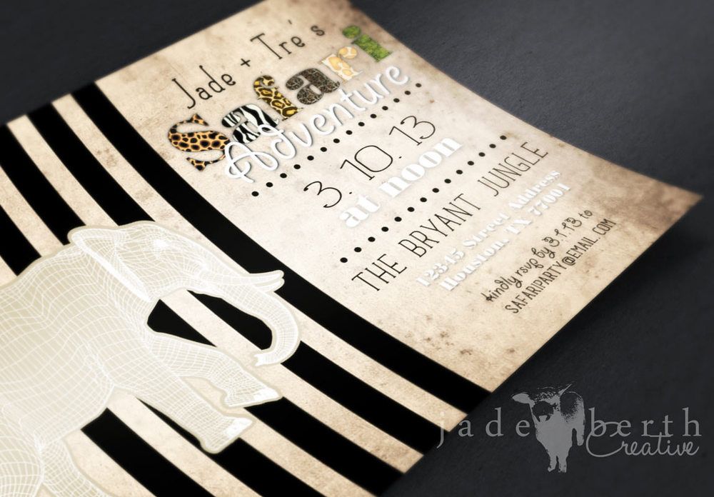 Modern Safari: Custom Invitation + Inspiration — JadeBerth Creative