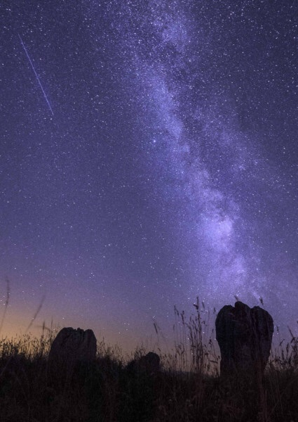 Meteor over Duddo Stones by Jane Coltman