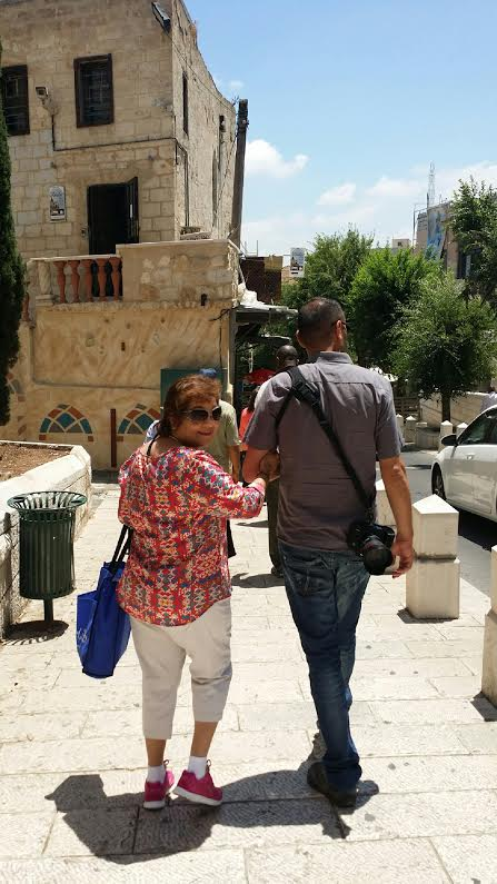 Rafie's adopted son, Shiraz! Already missing Israel.   TONY, THIS MARY Q. MATA...JUST WANTED SHARE THIS PIC OF MY SISTER AND TO SHOW YOU HOW WE WERE TAKING OF DURING OUR PILGRIMAGE.