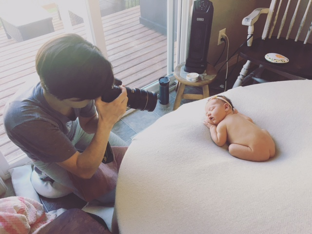 I spend just probably far too much time reading and studying and following professional newborn photography safety videos