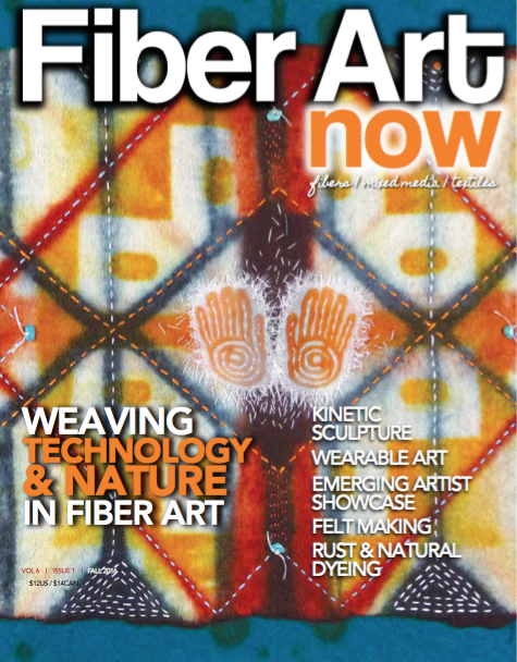 September 2016 issue, Fiber Art Now             Order a back copy  here