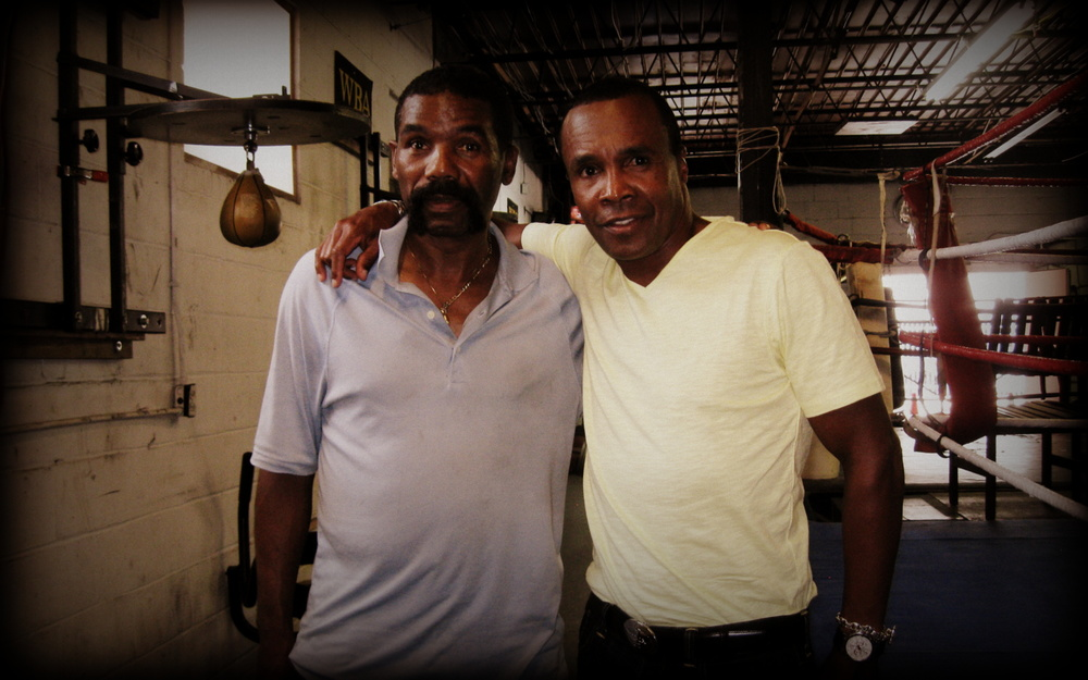 Johnny Gant and Sugar Ray Leonard.