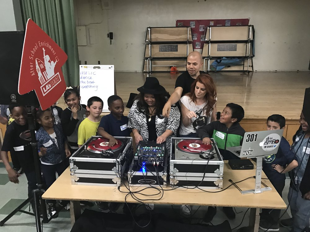 This year we taught kids at Grape Street Elementary in Watts, CA the basics to DJ'ing.