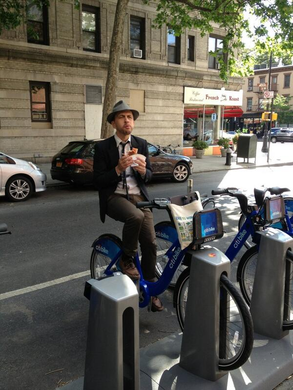 The author on a Citibike.