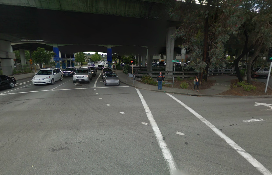 The place of the crash. Image from Google Streetview.