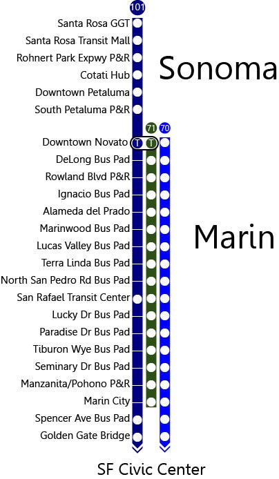 New 101 bus service will look like so. Image by the author.