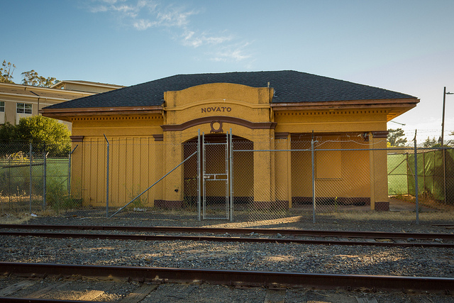 Novato's old station. Image by Jeff on Flickr.