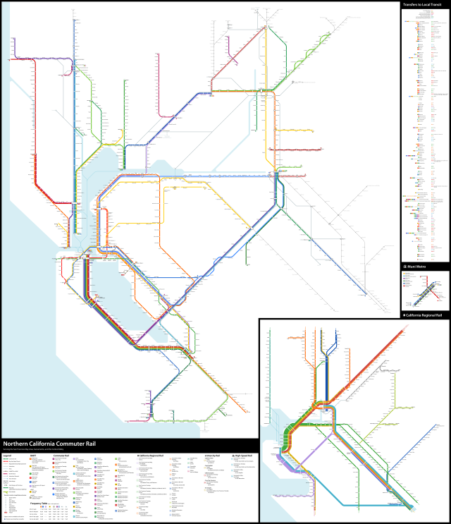 What If The Bay Area Had Never Lost Its Railroads The Greater Marin Subways & light rail in the u.s.a. the greater marin