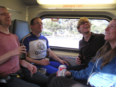 Caltrain riders hanging out. Image from SF2G.com