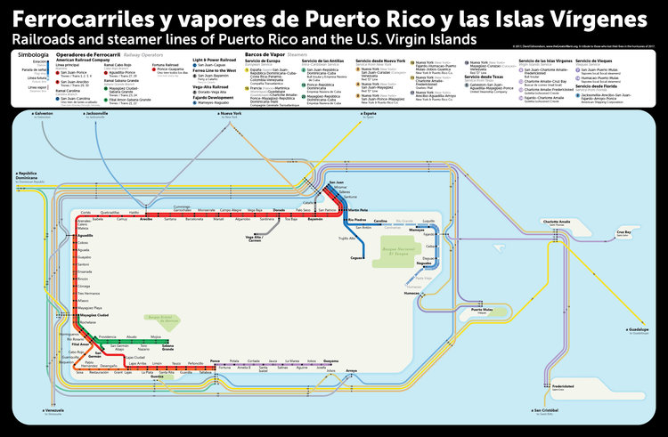 New map: Puerto Rico and the Virgin Islands — The Greater Marin San Go Train Map on