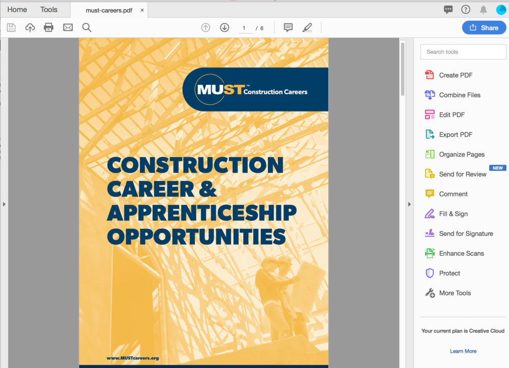 Download our brochure -   MUST Construction Career & Apprenticeship Opportunities