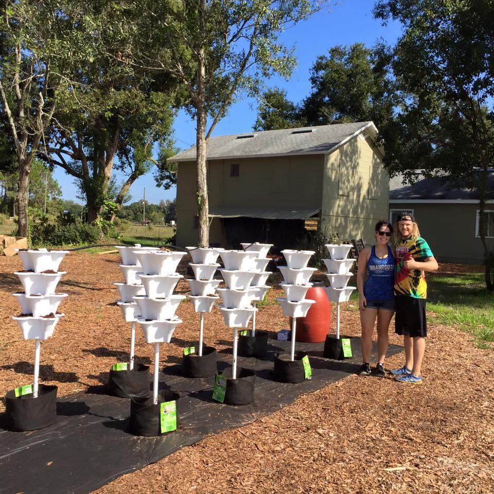 HydroponicTower Garden Exhibit Abbys Organic Community Farm