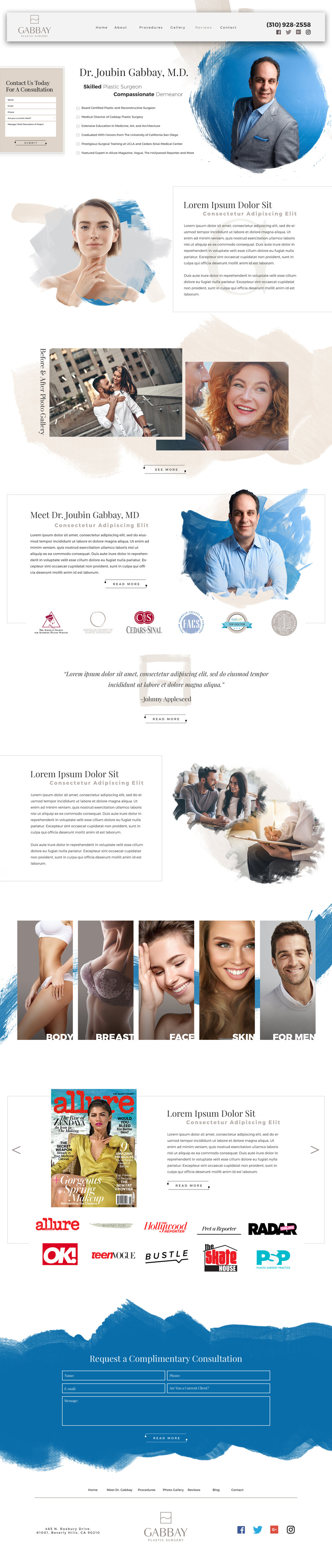 Web Design: Dr. Gabbay- Plastic Surgery Website