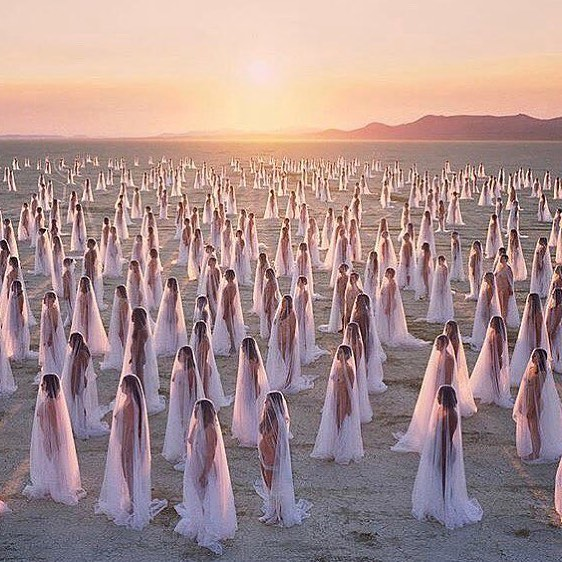 Spencer Tunick's Desert Spirits, 2014
