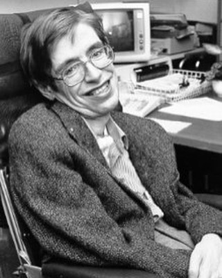"""I can't believe it! Stephen Hawking has left our Earth. This man roamed the cosmos from a wheelchair and made discoveries that changed how we now see the universe. I count myself lucky to have been alive at the same time as him. """"We are just an advanced breed of monkeys on a minor planet of a very average star. But we can understand the universe. That makes us something very special."""""""
