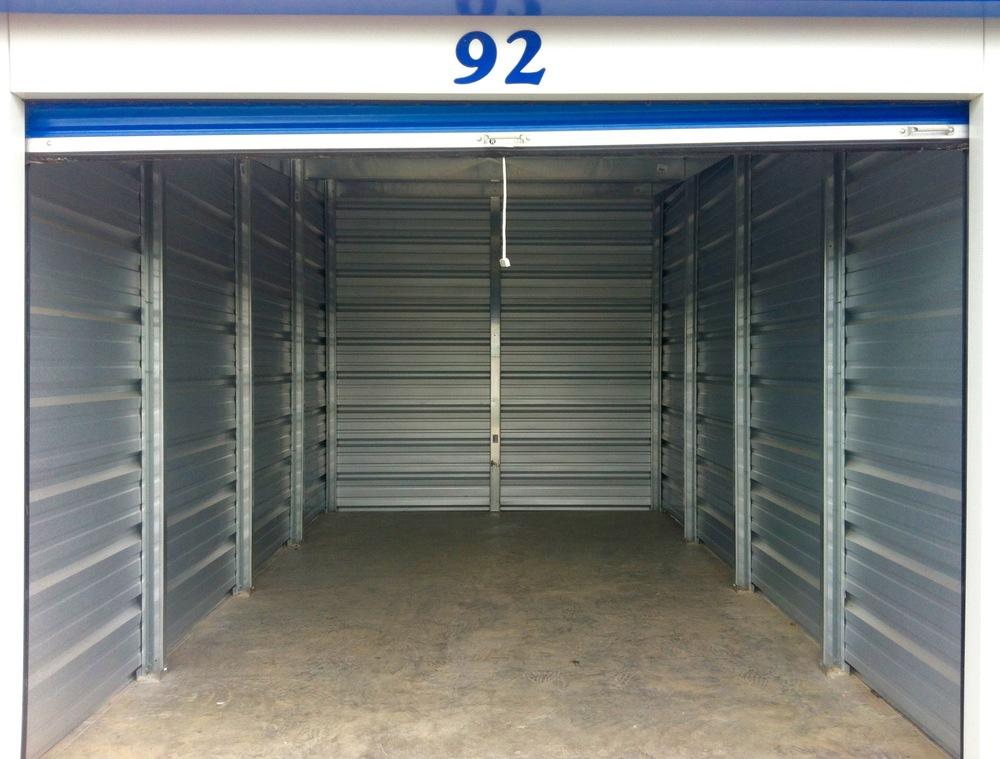 Booms Rent All Inside Storage Unit #92