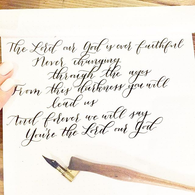 Getting my Monday afternoon #calligraphypractice on and can't help but dwell on this song from worship at church yesterday morning. Can I get an amen? 🙏🏻🙌🏻 #truth