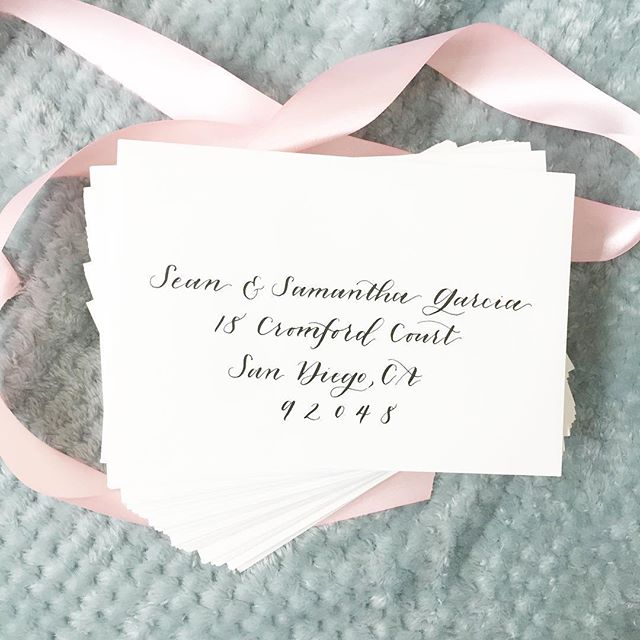 Off to the bride and groom today! #ilovewhatido #babiesandcalligraphy