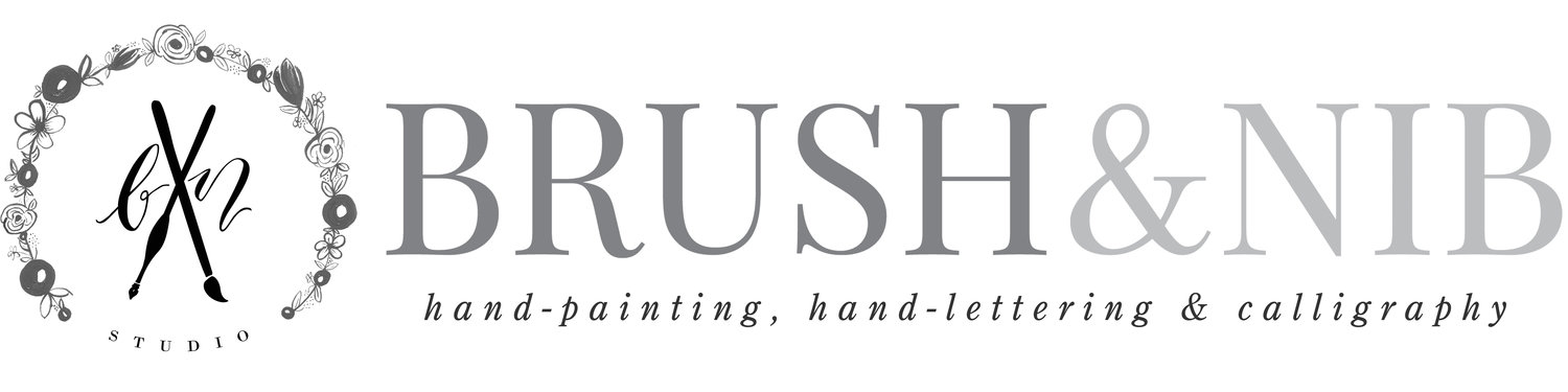 Brush & Nib Studio | Hand-Painting + Hand-Lettered Calligraphy | Wedding Invitations, Paper, Cards, Signs and Decor