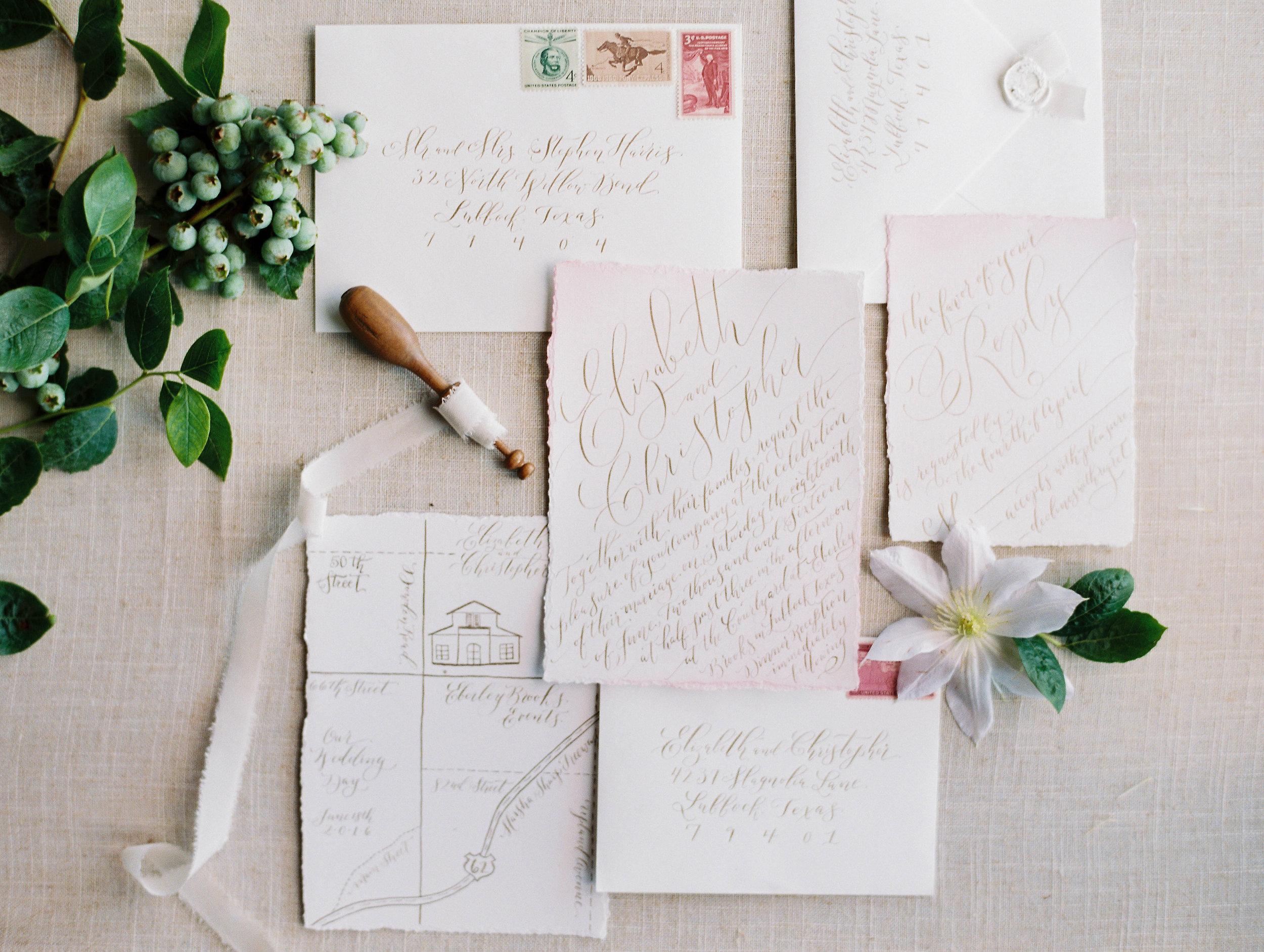 What Goes in a Wedding Invitation Suite Brush Nib Studio Hand