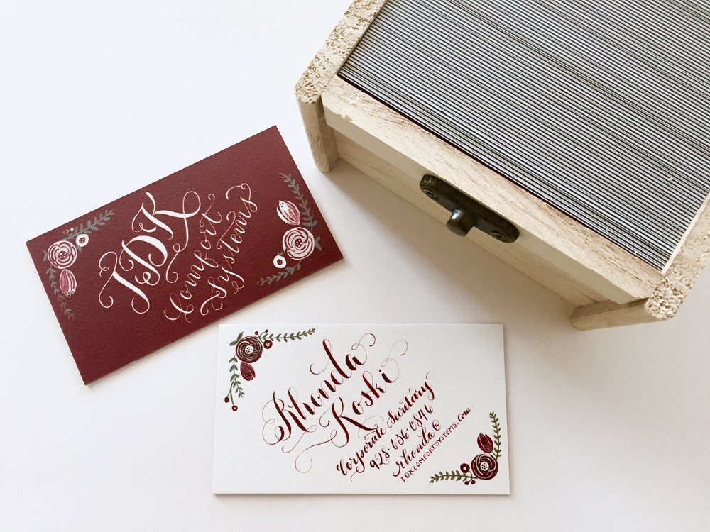 Brush & Nib Hand-Painted and Hand-Lettered Calligraphy Business Logos and Branding