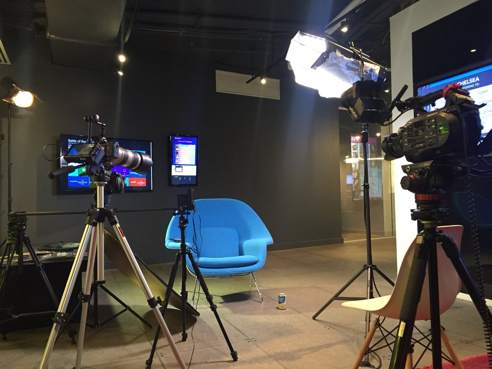 DGNL's setup for a recent video shoot