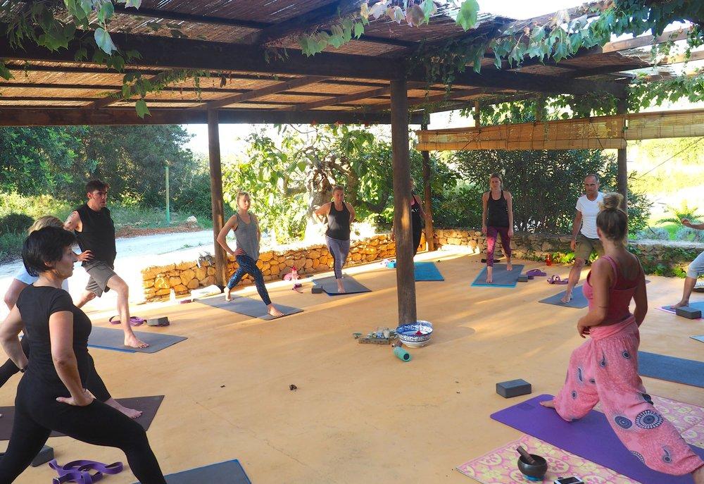 Group classes - in a stunning villa location in Sant Josep, Ibiza