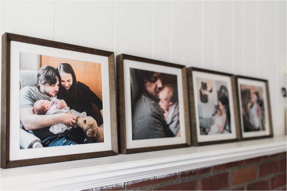 documentary newborn photography framed prints