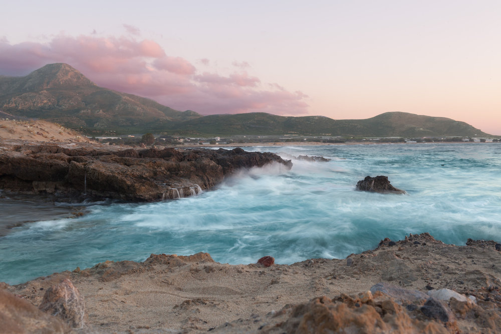 Beach close by Falassarna. We stayed for sunset then raced back to Chania for the concert.