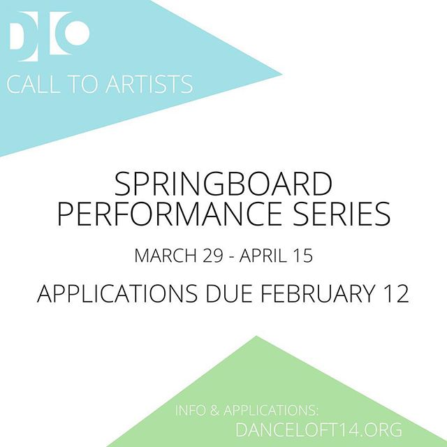 Apply to perform in our theater for SPRINGBOARD performance series! All genres welcome, more info on our website. #dcdance #dmvdancecommunity #ward4dc #danceloft14 #springboardDC2018