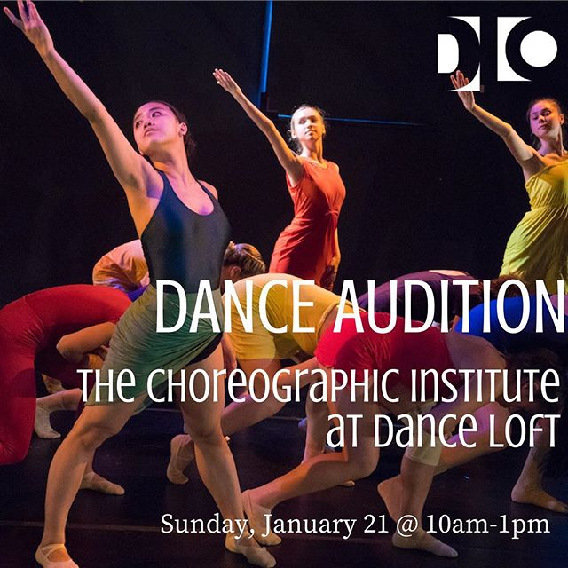 DANCERS WANTED: choreographic institute at dance loft seeks dancers for original works by emerging choreographers. This Sunday at the Loft! Pre-register online thru our website and see you there! #cidl2018 #auditions #dcdance #dmvdancecommunity #dmvArts #choreography