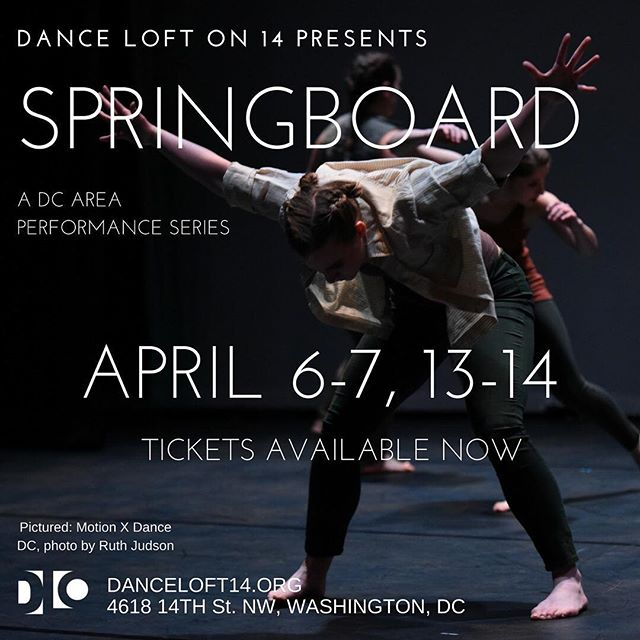 Tickets available now! #dcdancers #springboarddc2018 @motionxdancedc