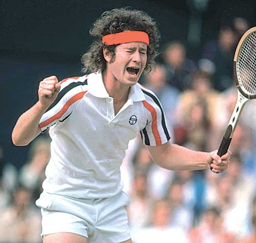 McEnroe protesting a call at Wimbledon in 1980. (Photo: Steve Powell/Getty Images)