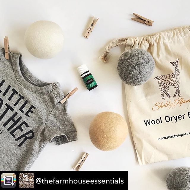 We are LOVING your the posts about our dryer balls!  @thefarmhouseessentials just had a baby and she did her first load of baby laundry using our dryer balls. So fun! I wish I could snuggle all the babies all the time.  How about you? Do you love babies? 👶🏻 #dryerballs #essentialoils #dryerball #chemicalfree #chemicalfreeliving #chemicalfreehome #wooldryerballs #dryerballlove #laundryday #babies #babylove #babylover #newborn #clothespins #homedecor #shabbyalpaca #shabbylove #shabbylover #shabbygirls