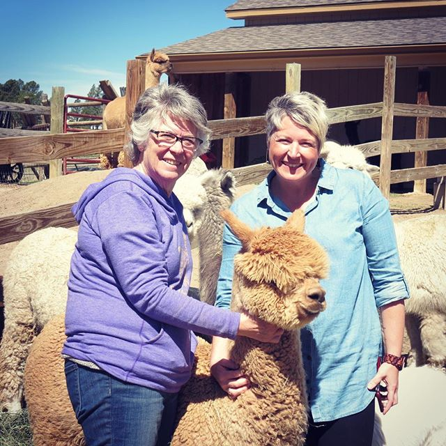 """It's been a while since we introduced ourselves - so we thought we'd say """"hey!"""" to all our followers new and old.  We're a mother/daughter team Chris (left) and Celina (right) and together we started our dream business in 2013: Shabby Alpaca {Soft and Natural Goods From Around The World}  We are the Shabby Girls and we invite you to join the alpaca herd!  We love to: -share our beautiful finds from around the globe 🌎 -laugh at ourselves (and each other) -figure out how to run this small business together -wear all the alpaca things and carry all the fun bags -and most of all bring people a little bit of joy 😘 ❤️"""