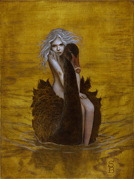 Sullivan-Beeman_Deirdre_Swan Girl_2014_oil on tempura_16x12